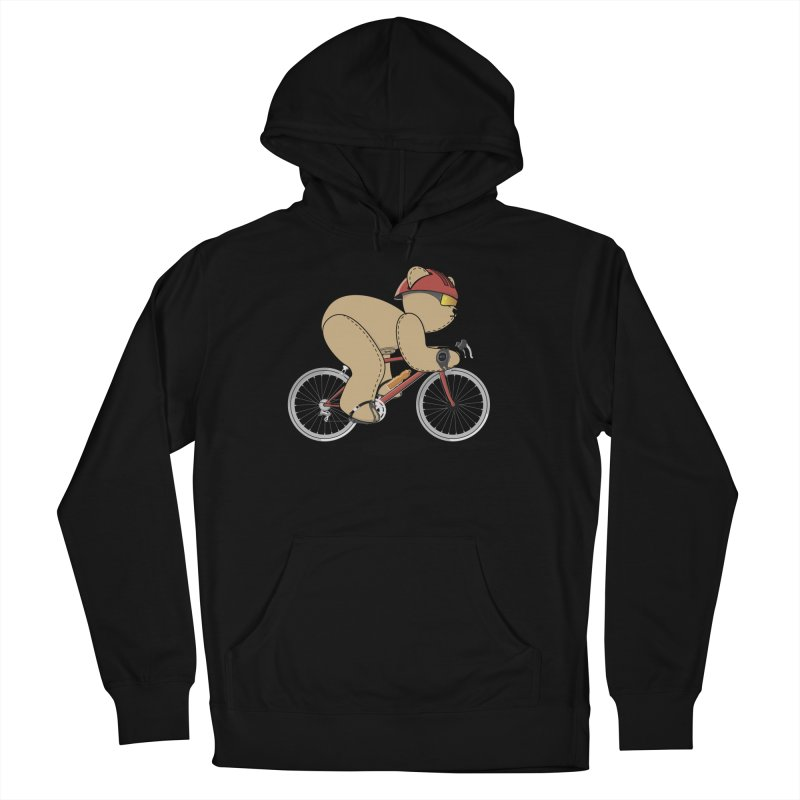 Cycling Bear Men's French Terry Pullover Hoody by grumpyteds's Artist Shop