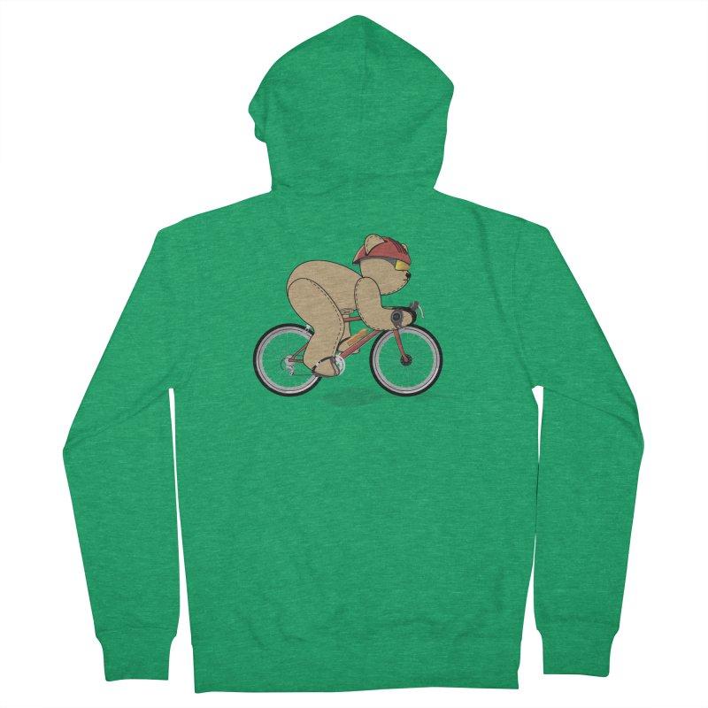 Cycling Bear Women's Zip-Up Hoody by grumpyteds's Artist Shop