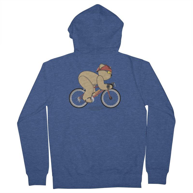 Cycling Bear Men's Zip-Up Hoody by grumpyteds's Artist Shop