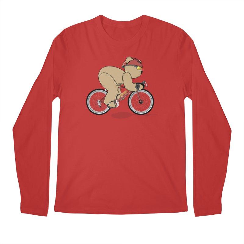 Cycling Bear Men's Regular Longsleeve T-Shirt by grumpyteds's Artist Shop