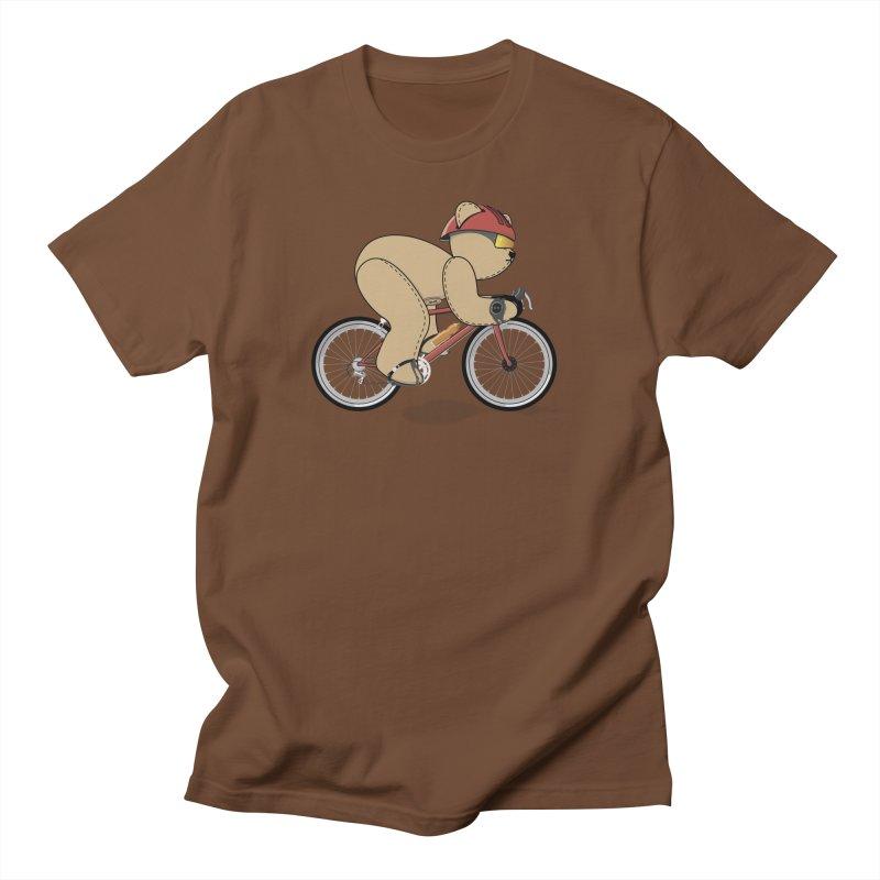 Cycling Bear Women's Regular Unisex T-Shirt by grumpyteds's Artist Shop