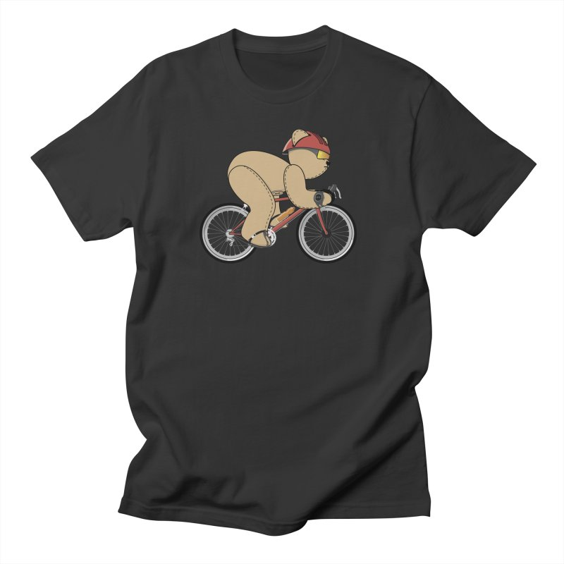 Cycling Bear Men's Regular T-Shirt by grumpyteds's Artist Shop