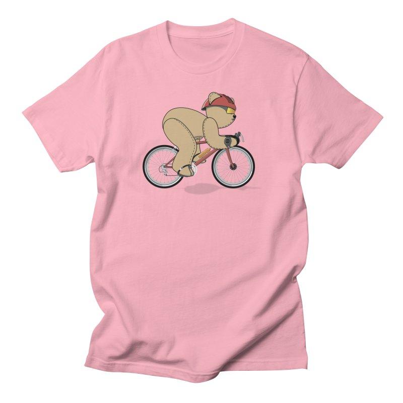 Cycling Bear Men's Regular T-Shirt by grumpyteds's Artist Shop