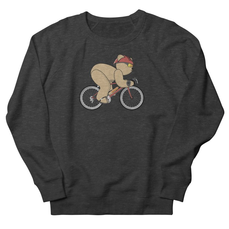 Cycling Bear Women's French Terry Sweatshirt by grumpyteds's Artist Shop