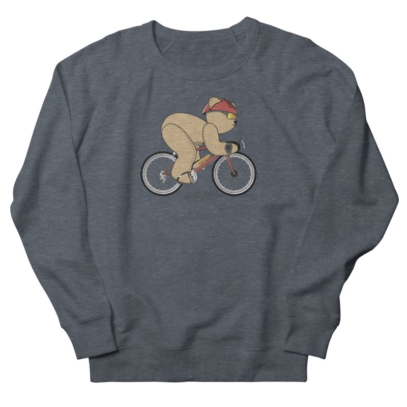 Cycling Bear Men's French Terry Sweatshirt by grumpyteds's Artist Shop