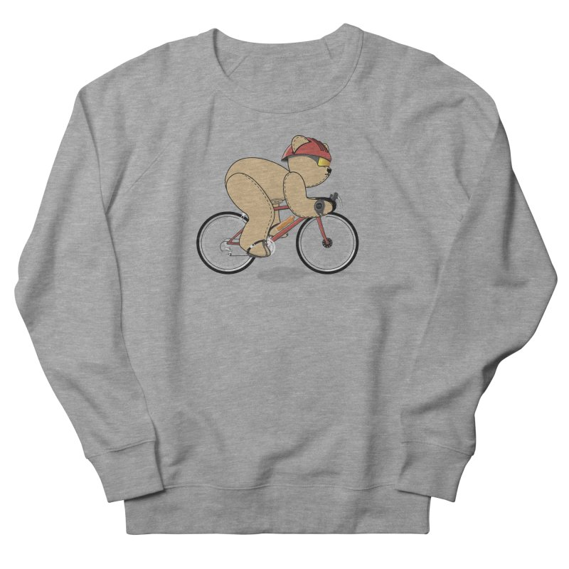 Cycling Bear Men's French Terry Sweatshirt by grumpyteds's Artist Shop