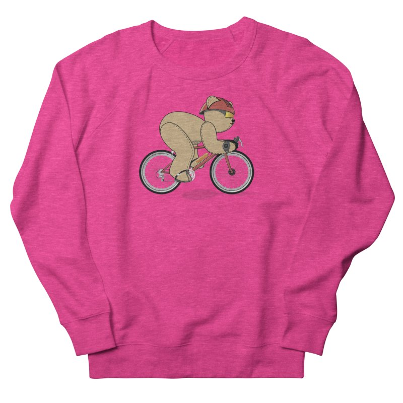 Cycling Bear Men's Sweatshirt by grumpyteds's Artist Shop