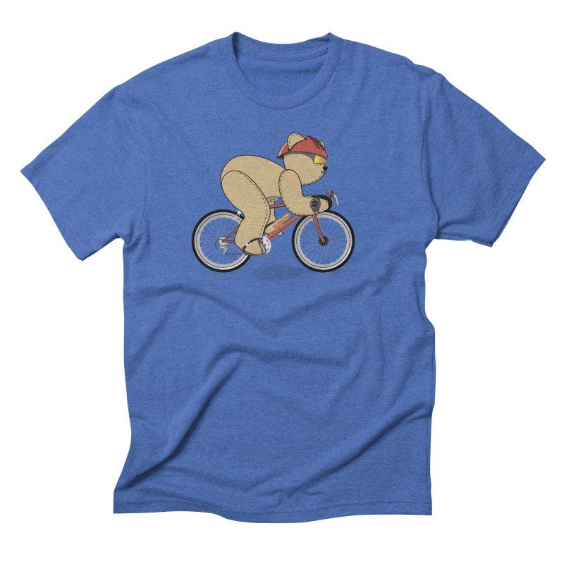 Cycling Bear Men's Triblend T-Shirt by grumpyteds's Artist Shop