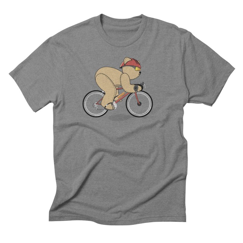 Cycling Bear Men's Triblend T-Shirt by grumpyteds's Artist Shop