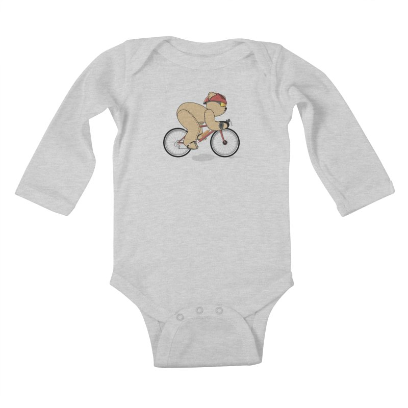 Cycling Bear Kids Baby Longsleeve Bodysuit by grumpyteds's Artist Shop