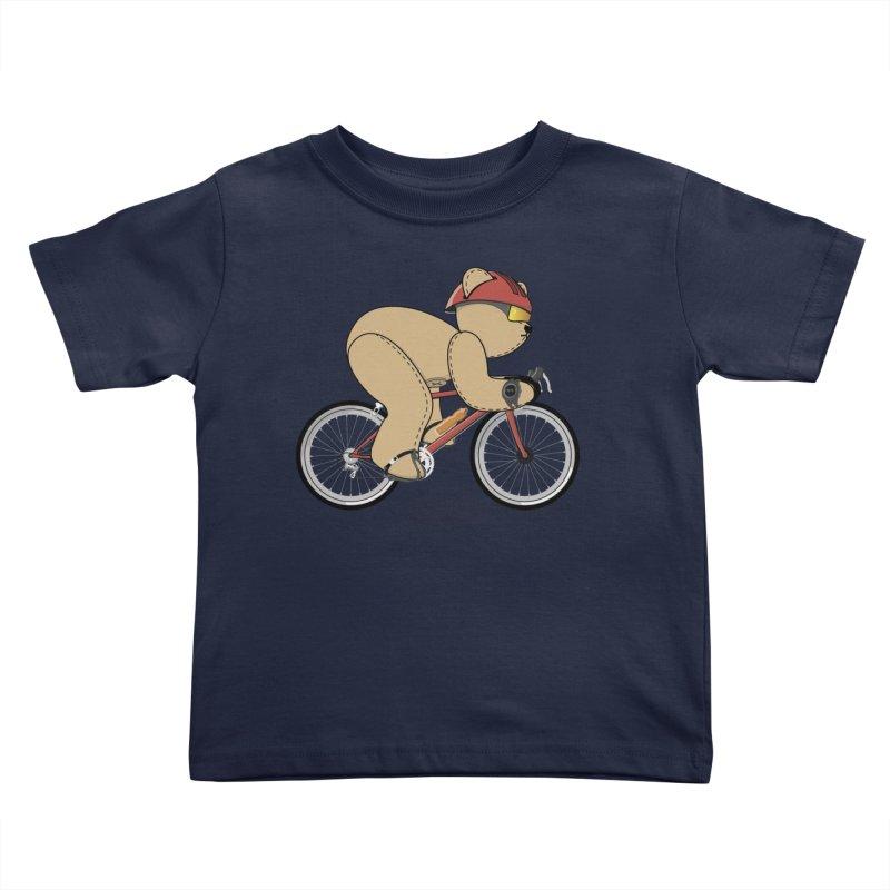 Cycling Bear Kids Toddler T-Shirt by grumpyteds's Artist Shop