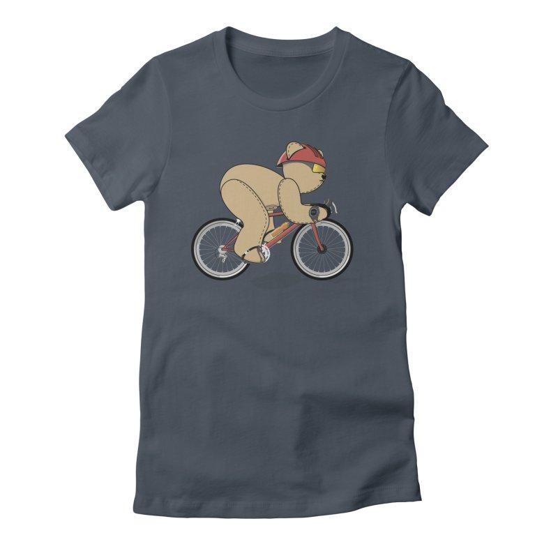 Cycling Bear Women's T-Shirt by grumpyteds's Artist Shop