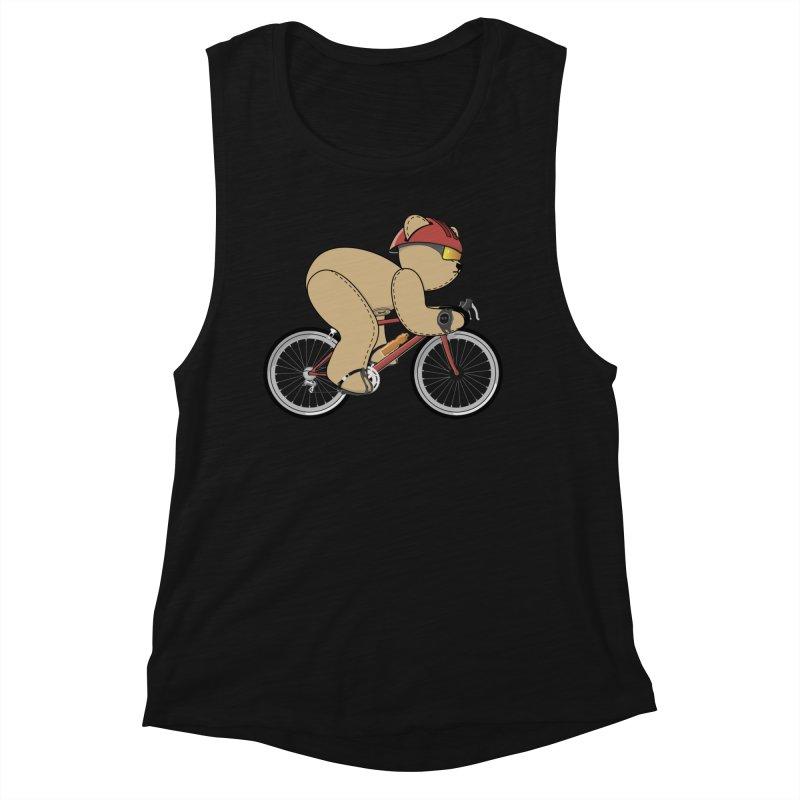 Cycling Bear Women's Tank by grumpyteds's Artist Shop
