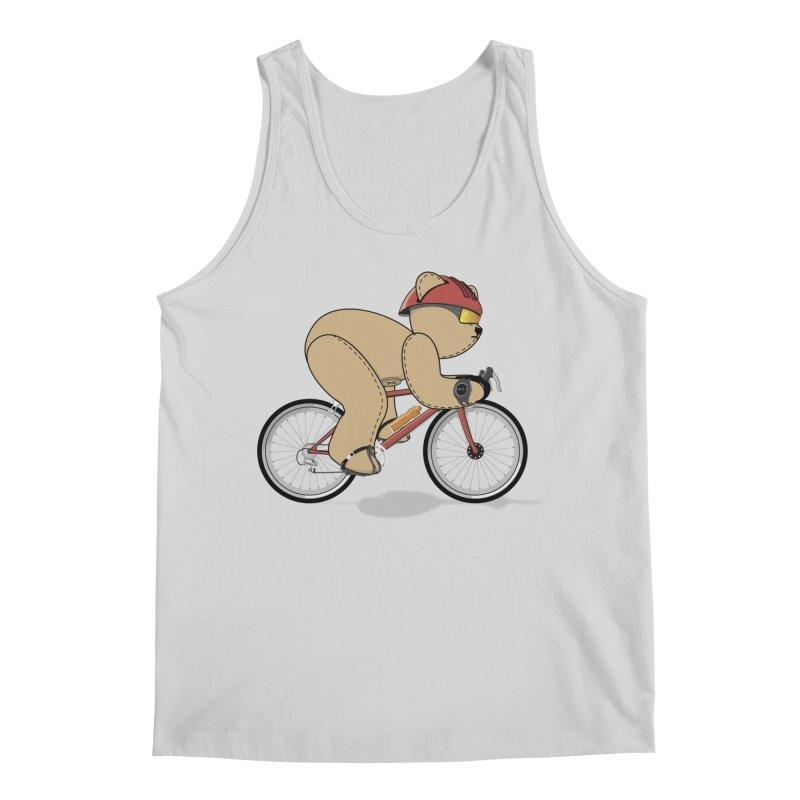Cycling Bear Men's Regular Tank by grumpyteds's Artist Shop