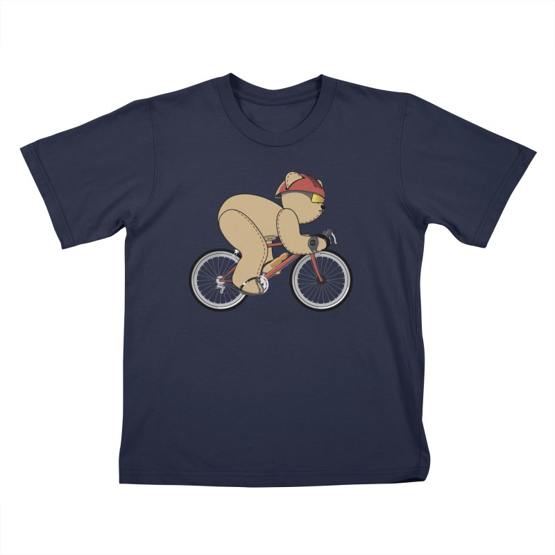 Cycling Bear Kids T-Shirt by grumpyteds's Artist Shop