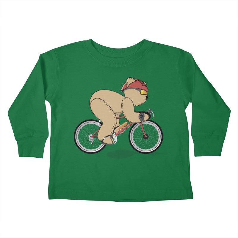 Cycling Bear Kids Toddler Longsleeve T-Shirt by grumpyteds's Artist Shop