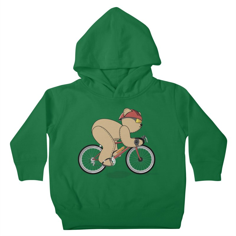 Cycling Bear Kids Toddler Pullover Hoody by grumpyteds's Artist Shop