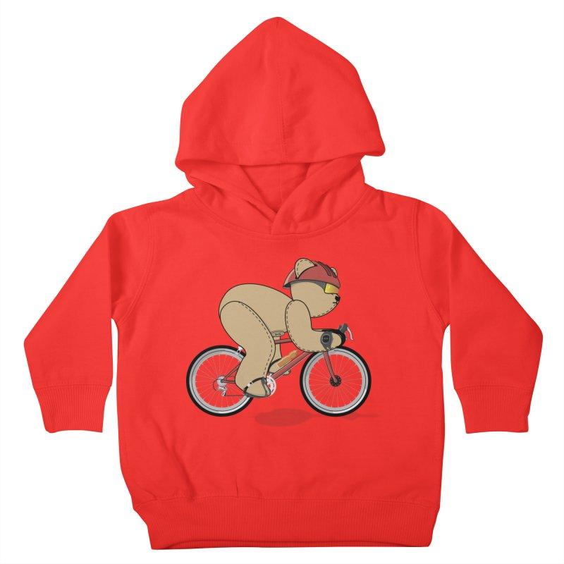 Cycling Bear Kids Toddler Pullover Hoody by grumpyteds's Artist Shop