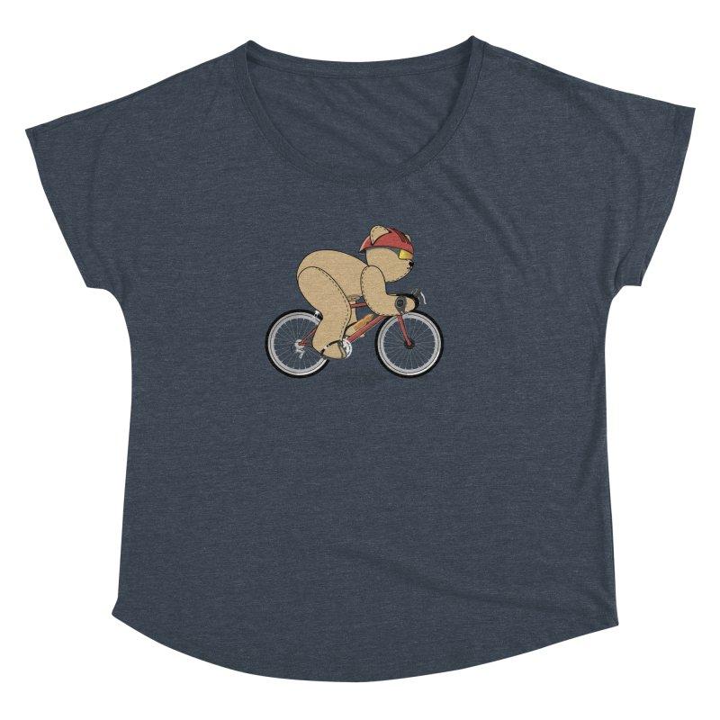 Cycling Bear Women's Dolman Scoop Neck by grumpyteds's Artist Shop