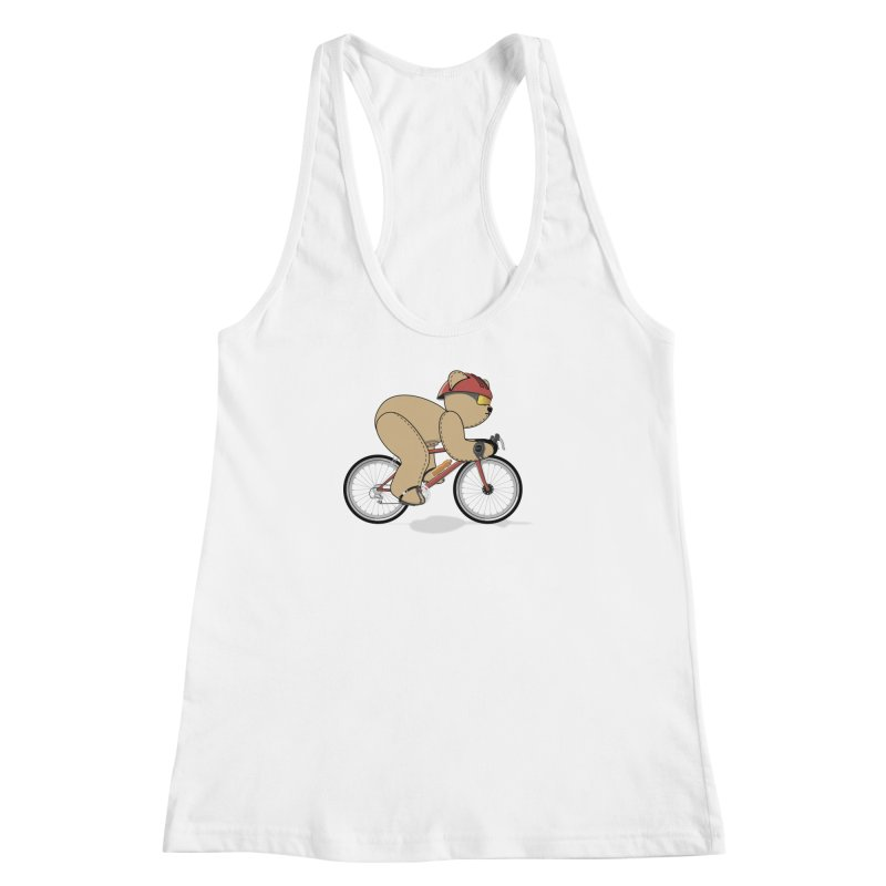 Cycling Bear Women's Racerback Tank by grumpyteds's Artist Shop