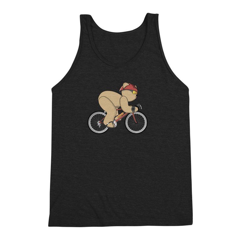 Cycling Bear Men's Tank by grumpyteds's Artist Shop