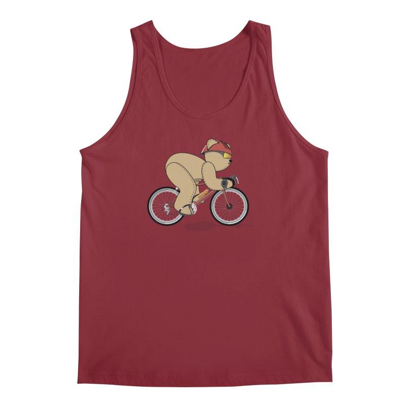 Cycling Bear Men's Tank by grumpyteds's Artist Shop