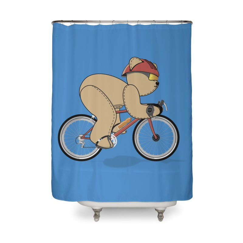 Cycling Bear Home Shower Curtain by grumpyteds's Artist Shop
