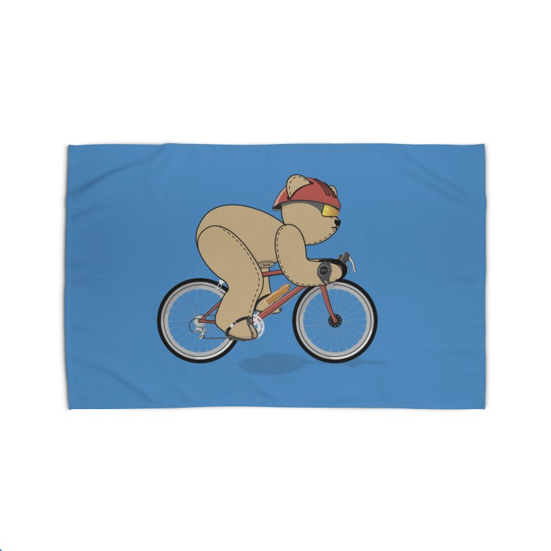 Cycling Bear Home Rug by grumpyteds's Artist Shop
