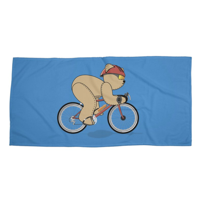 Cycling Bear Accessories Beach Towel by grumpyteds's Artist Shop