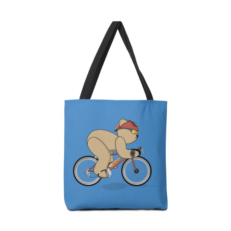 Cycling Bear Accessories Tote Bag Bag by grumpyteds's Artist Shop