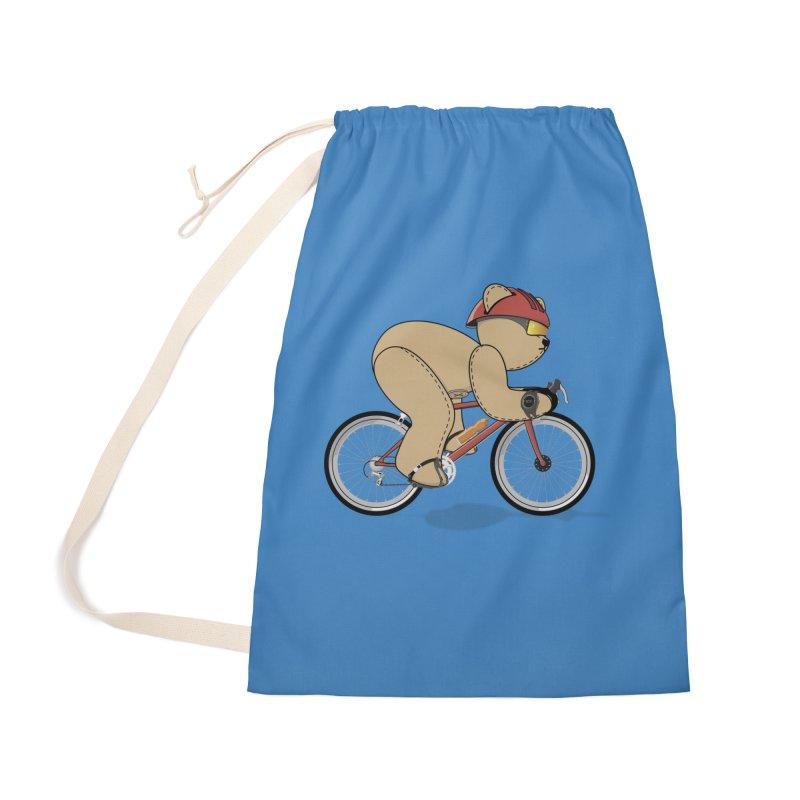Cycling Bear Accessories Bag by grumpyteds's Artist Shop