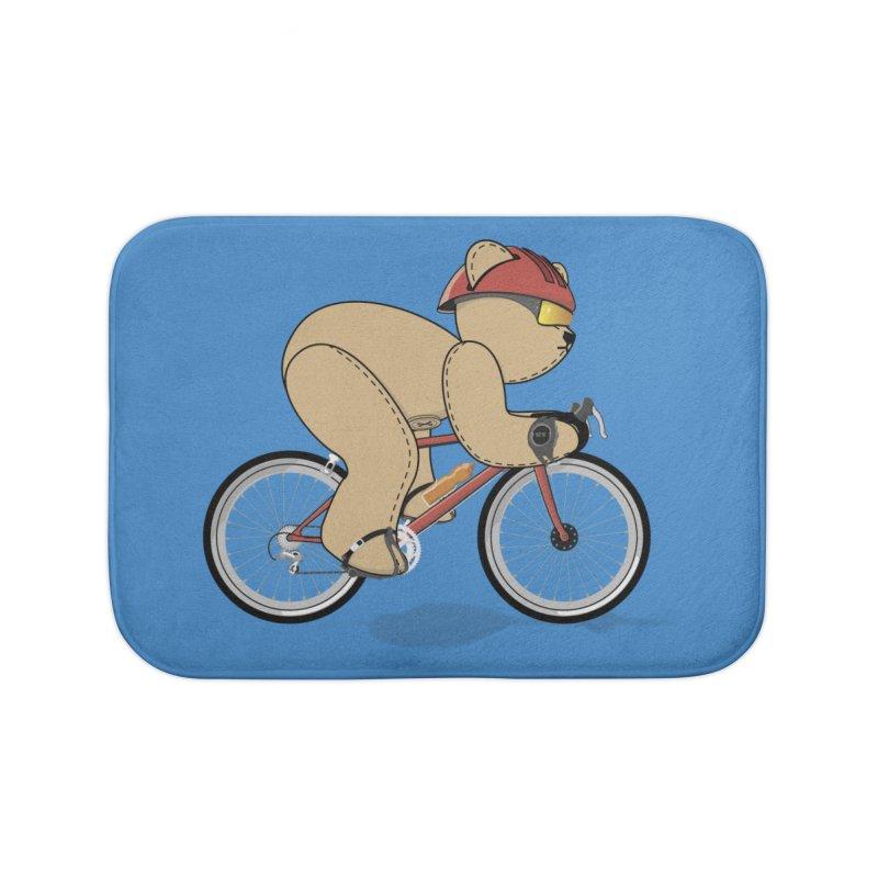 Cycling Bear Home Bath Mat by grumpyteds's Artist Shop