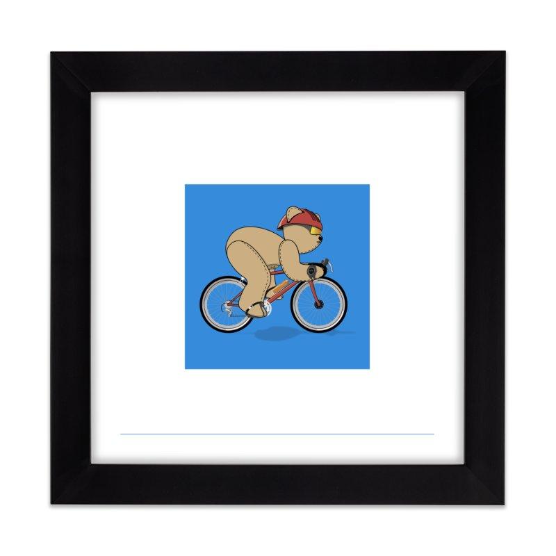 Cycling Bear Home Framed Fine Art Print by grumpyteds's Artist Shop