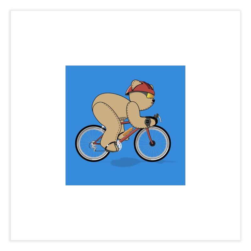 Cycling Bear Home Fine Art Print by grumpyteds's Artist Shop