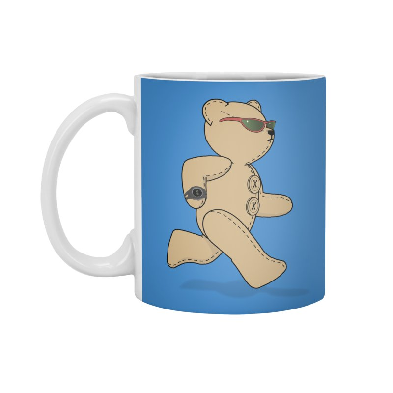 Running Bear Accessories Standard Mug by grumpyteds's Artist Shop