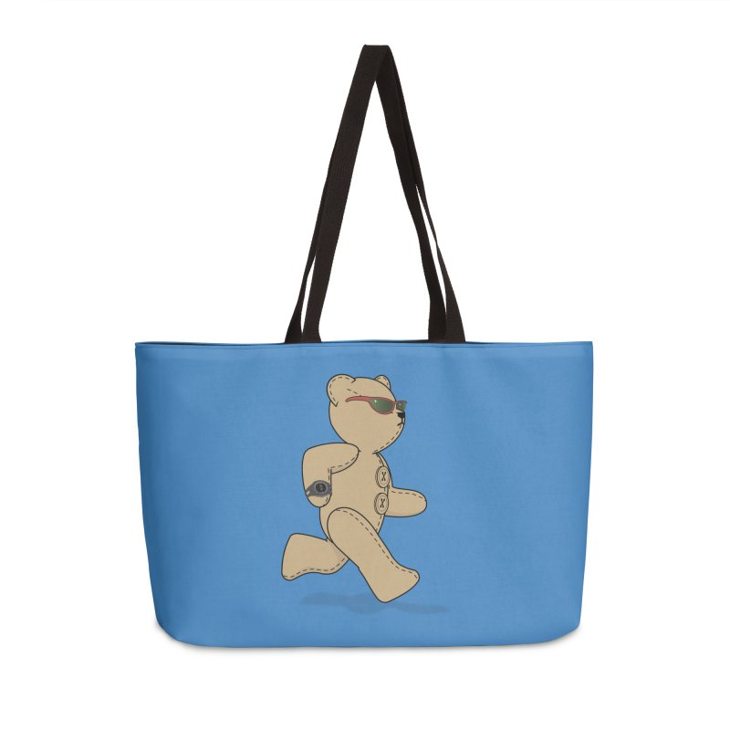 Running Bear Accessories Weekender Bag Bag by grumpyteds's Artist Shop