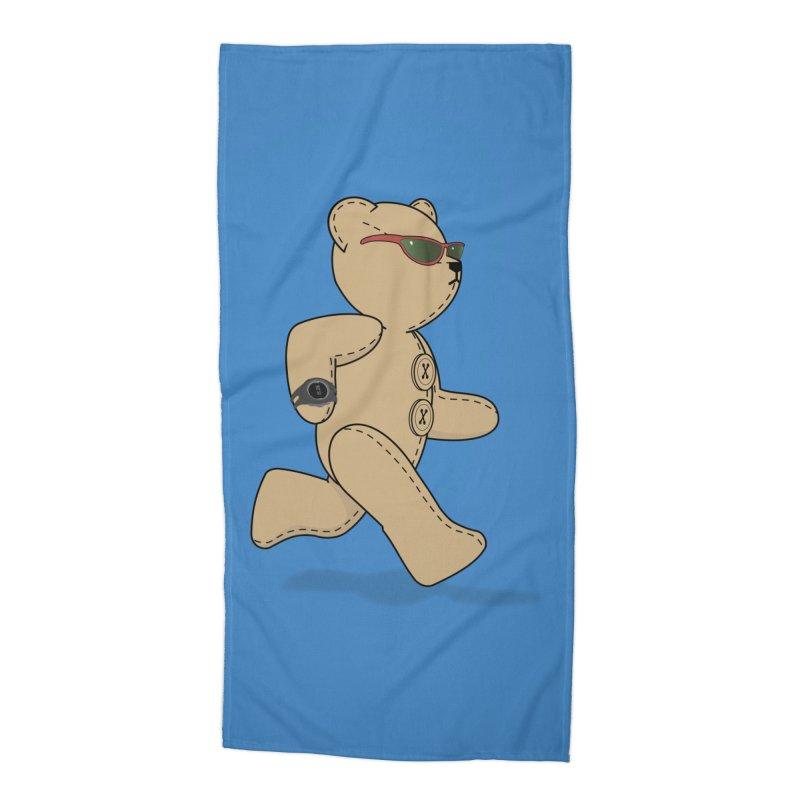 Running Bear Accessories Beach Towel by grumpyteds's Artist Shop