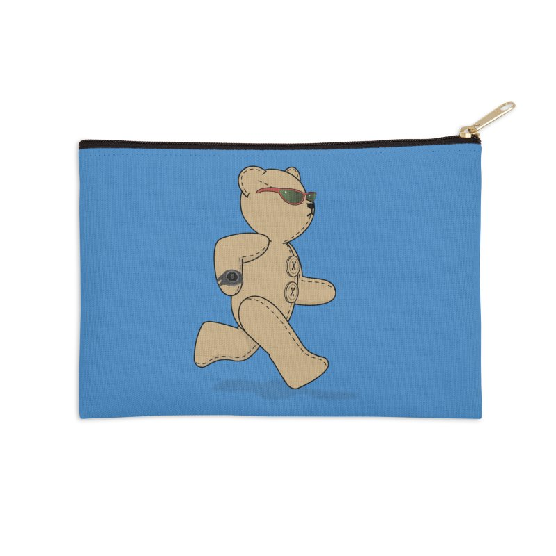 Running Bear Accessories Zip Pouch by grumpyteds's Artist Shop