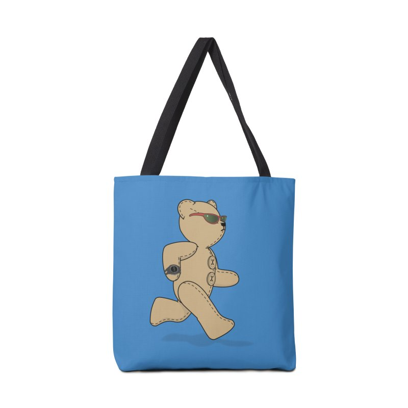 Running Bear Accessories Tote Bag Bag by grumpyteds's Artist Shop