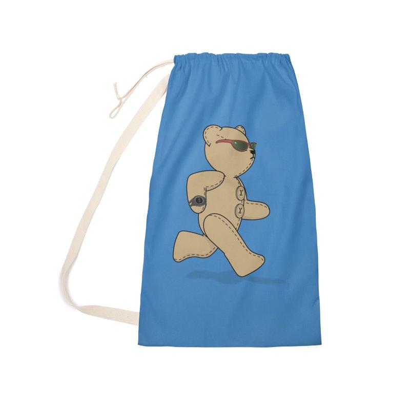 Running Bear Accessories Bag by grumpyteds's Artist Shop