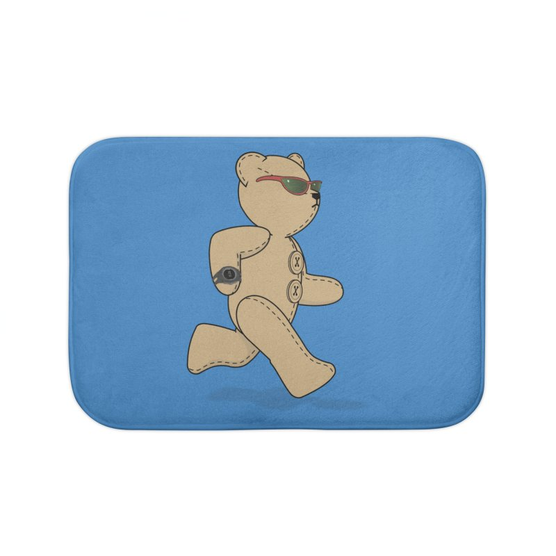 Running Bear Home Bath Mat by grumpyteds's Artist Shop