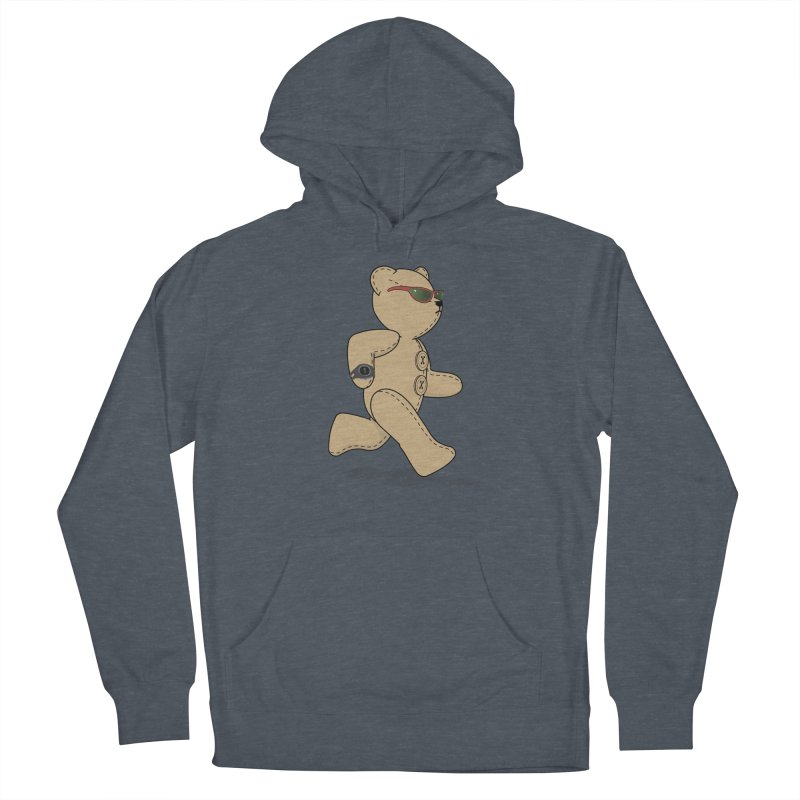 Running Bear Women's French Terry Pullover Hoody by grumpyteds's Artist Shop