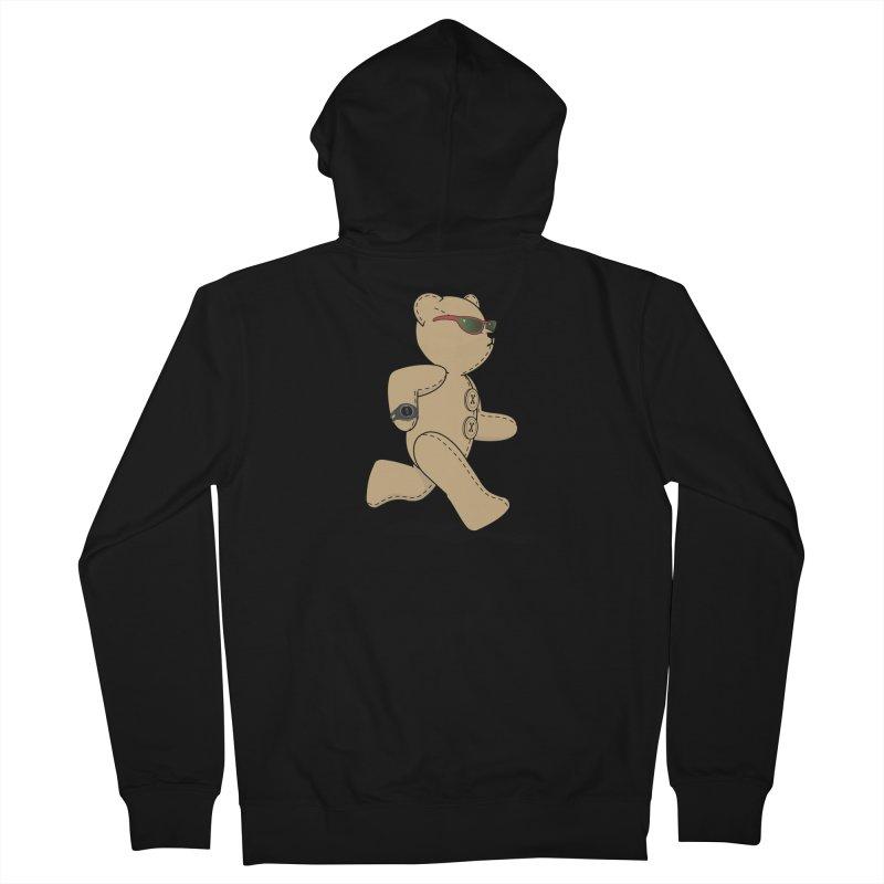 Running Bear Women's French Terry Zip-Up Hoody by grumpyteds's Artist Shop