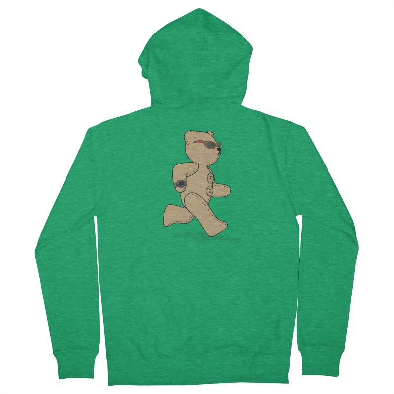 Running Bear Men's French Terry Zip-Up Hoody by grumpyteds's Artist Shop