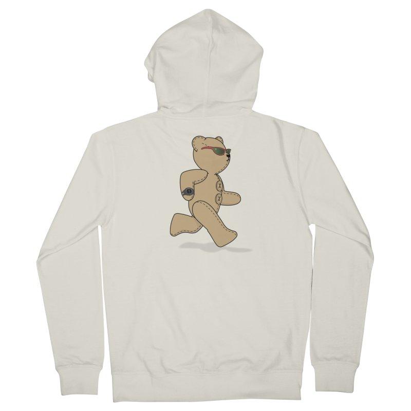 Running Bear Men's French Terry Zip-Up Hoody by grumpyteds's Artist Shop