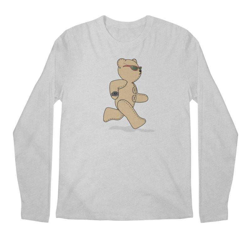 Running Bear Men's Regular Longsleeve T-Shirt by grumpyteds's Artist Shop