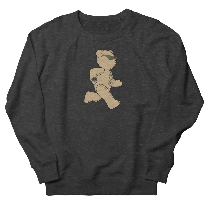 Running Bear Men's French Terry Sweatshirt by grumpyteds's Artist Shop