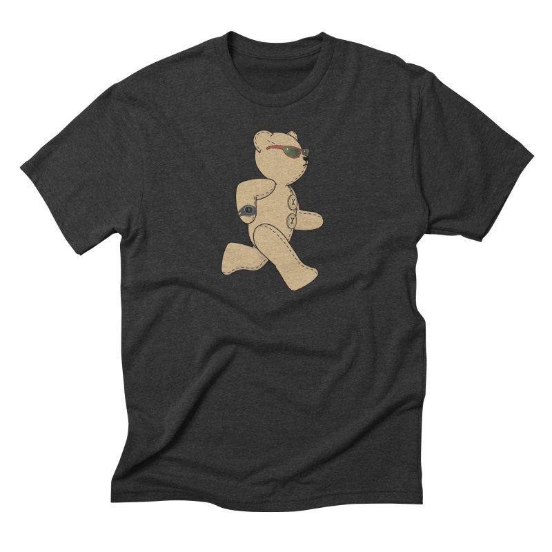 Running Bear Men's Triblend T-Shirt by grumpyteds's Artist Shop