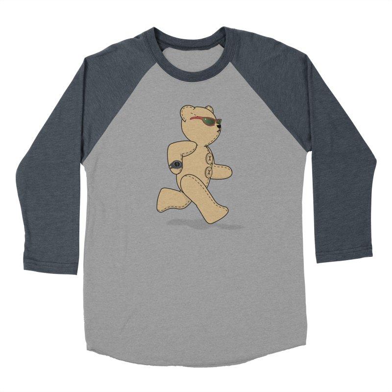Running Bear Men's Baseball Triblend Longsleeve T-Shirt by grumpyteds's Artist Shop