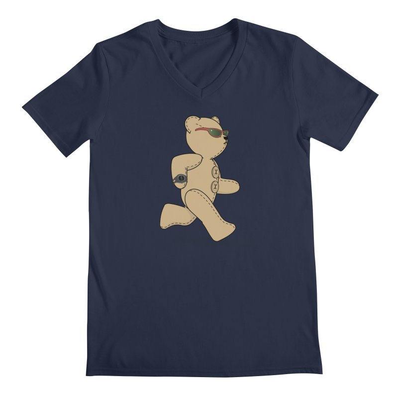 Running Bear Men's Regular V-Neck by grumpyteds's Artist Shop